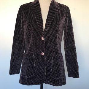 Velvet blazer retro print